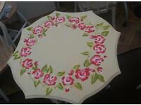 Shabby chic table and chair.