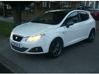 11 REG SEAT IBIZA SPORTRIDER 1.4 TSI FR KIT WHITE FULLY LOADED SPEC 22K LOW MILES MUST SEE CAR