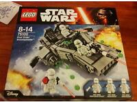 Lego Star Wars First Order Snowspeeder - brand new in box