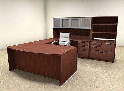 7pc U Shaped Modern Executive Office Desk Ot-sul-u46