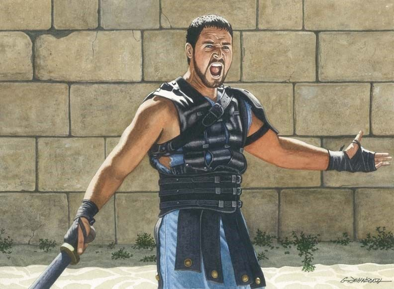 RUSSELL CROWE THE GLADIATOR ART PRINT