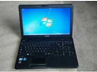 Toshiba C660 Laptop, Core i3, 3gb ram, 320gb hdd, webcam