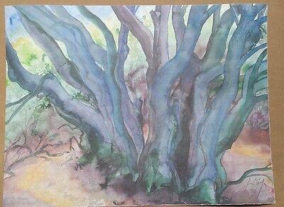 GÜNTER GRASS große Originalalgrafie handsigniert Nummer: 94/150 Waldlandschaft