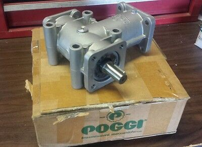 New Poggi 11 Ratio 34 Shaft 2 Way Right Angle Gearbox