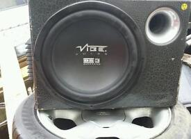 Vibe sub with built in amp.