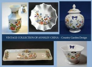 "VINTAGE COLLECTION OF AYNSLEY ""COTTAGE GARDEN"" FINE BONE CHINA"