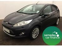 £123.80 PER MONTH GREY 2009 FORD FIESTA 1.4 TDCI TITANIUM 5 DOOR