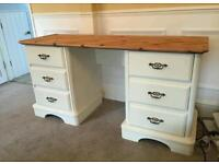 Pine shabby chic desk or dressing table