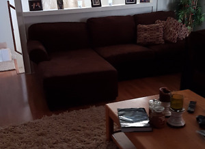 Brown Microfiber Sectional