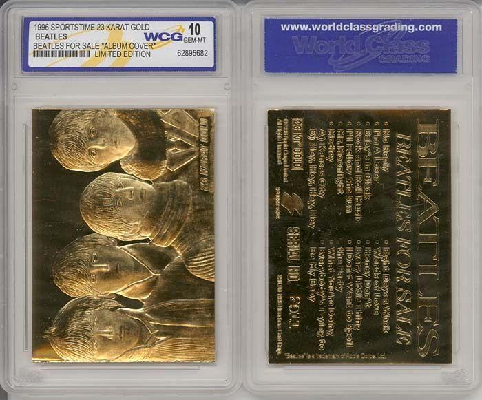 *Lot of 5* BEATLES * FOR SALE * Original 23KT GOLD CARD - GRADED GEM-MINT 10