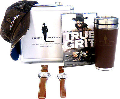 Adult Movie True Grit John Wayne DVD Tumbler 2 Watch Poker Chip Hat Cap Gift Set