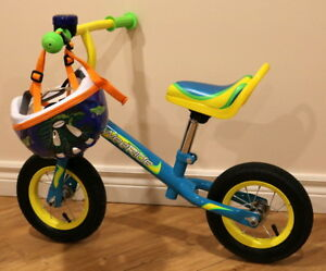 Wee Ride balance bike with adjustable seat and handle bar height