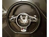 Audi a3 s3 rs3 a4 s4 rs4 flat bottom steering wheel
