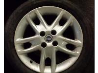 Set of fiat punto sporting alloy wheels