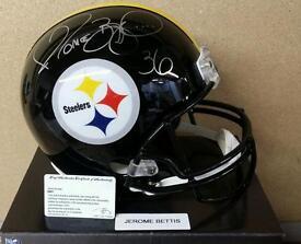 Jerome bettis steelers american football nfl signed helmet