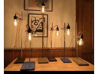 Retort stand lamps