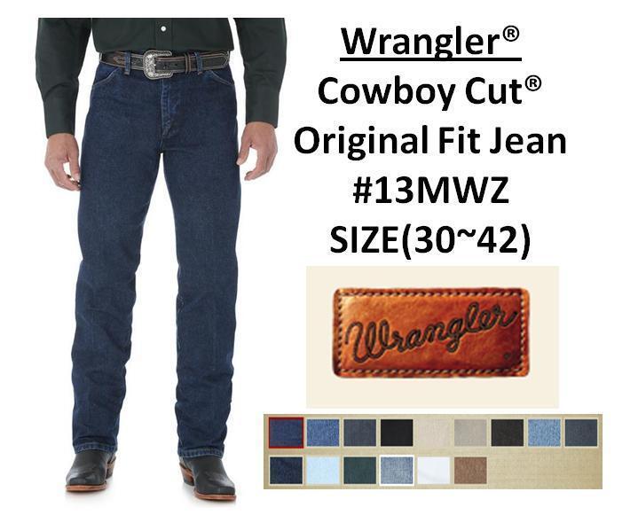 Mens Wrangler Cowboy Cut Original Fit Jeans #13mwz