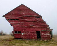 The old barn a little out of shape??