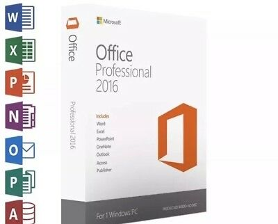 Microsoft Office Professional 2016 Product Key Lifetime Subscription