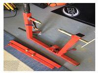 ABBA super bike stand with attachments for Kawasaki/Aprilia motorcycles