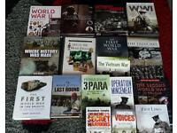 Joblot of war books and dvds