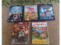 5 children's dvds
