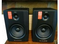 Pair of M-Audio BX5 D2 professional studio moniter speakers. Fantastic condition.