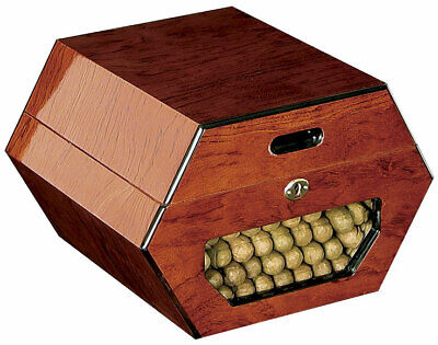 Cuban Wheel 50 Cigar Glass Humidor by Don Salvatore - Free -