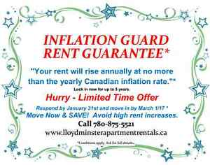 """Inflation Guard Rent Guarantee""* in Central Lloydminster"