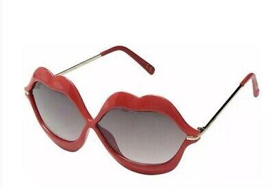Betsey Johnson Designer Sunglasses HOT RED LIPS VALENTINE'S DAY 100% UV/Tint (Valentine's Day Sunglasses)