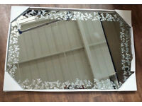 NEW Silver Butterflies Glass Wall Mirror