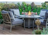 Garden table with gas heating