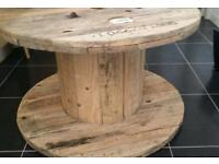 Cable drum x 2 coffee table shabby chic