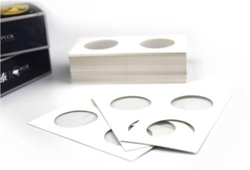 100 X Dollar size 2x2 cardboard mylar coin holder flip for SILVER DOLLARS 40 mm