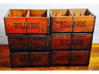 1940s Bullard beer boxes crates storage industrial antique kitchen retro vintage cafe restrauant