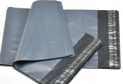 100 x STRONG LARGE GREY POSTAL MAILING BAGS 9x12