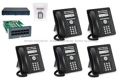 Avaya Ip Office 500 Ipo 500 V2 11 Atm4 Combo Card 5 Avaya 9508 Phones