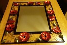 Flower poppy mirror £10
