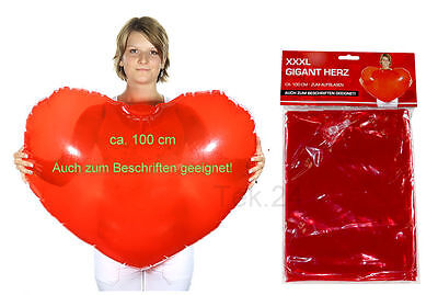 lon zum Beschriften Ø100cm Dekoration Hochzeit Valentinstag (Ballon Valentine)