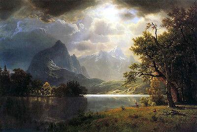 Estes Park, CO    by Albert Bierstadt   Giclee Canvas Print (Albert Bierstadt Estes Park)