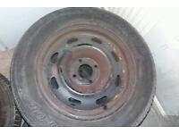 3 Steel wheels (4 stud)