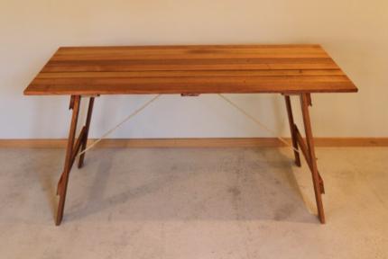 Vintage Style Handmade Hardwood Trestle Table