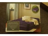 Double Airbed with pump. Very comfortable