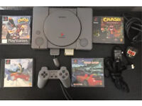 Ps1 audiophile Console with crash bandicoot, crash 2 and others