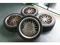 "Mania Racing 18"" 5x100 dish alloy wheels VW Audi Subaru Toyota Chrysler"