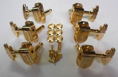 GROVER IMPERIAL TUNERS GOLD  FOR GRETSCH GUITARS WHITE FALCON STAIRSTEP  on Rummage