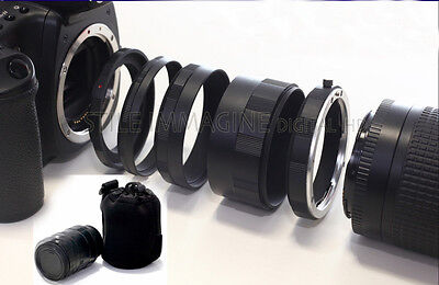 Tubo De Extensión Set 5 Piezas Canon EOS Compatible 100% para Macro...