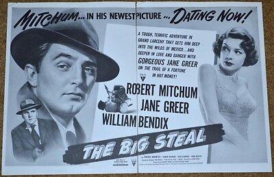 THE BIG STEAL 1949 ORIGINAL 12x18 MOVIE TRADE AD! ROBERT MITCHUM FILM NOIR!