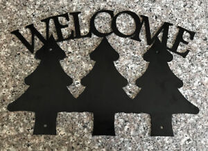 Welcome Trees Metal Art/Gate or Fence Insert Sign