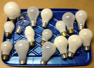 Light bulbs, incandescent